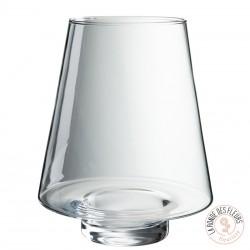 Vase transparent concave