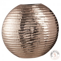 Vase rond decoratif cuivre