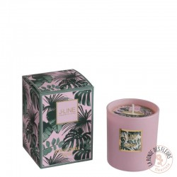 Bougie parfumée tropical rose