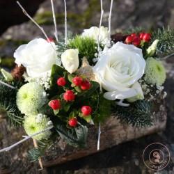 buche fleurie de Noël