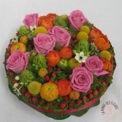 Gâteau fleuri anniversaire