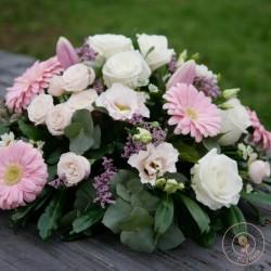 coussin rond de fleurs douceur deuil La Ronde des Fleurs