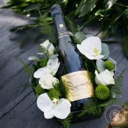 Coffret champagne et orchidées