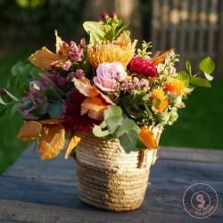 """bouquet couleurs d""""automne et son panie r La Ronde des"""