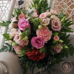 bouquet rose poudré - Ronde des fleurs