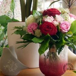 bouquet de roses romance Ronde des fleurs
