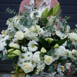 Bouquet à effet blanc