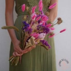 rose bonbon fleurs séchées
