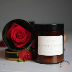 mon bonheur c'est toi bougie parfumée et rose éternelle par la ronde des fleurs rennes