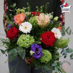 bouquet de fleurs francaises colorées rennes