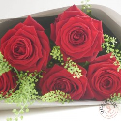 i love you bouquet de 5 roses rouges