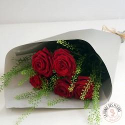 Bouquet de roses rouges - Ronde des fleurs