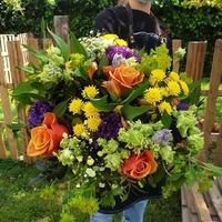 Une envie de bouquet ensoleillé? On vous livre ou passez en boutique de 8h à 19h  #rennes #fleuristerennes #fleuriste #larondedesfleurs_rennes #bretagne #fleursbretagne #colorblock #couleurs #soleil #bouquetcoloré